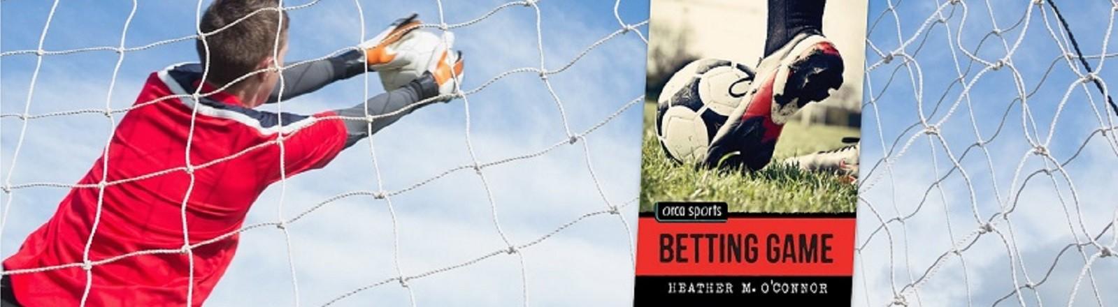 website header soccer goalie and Betting Game